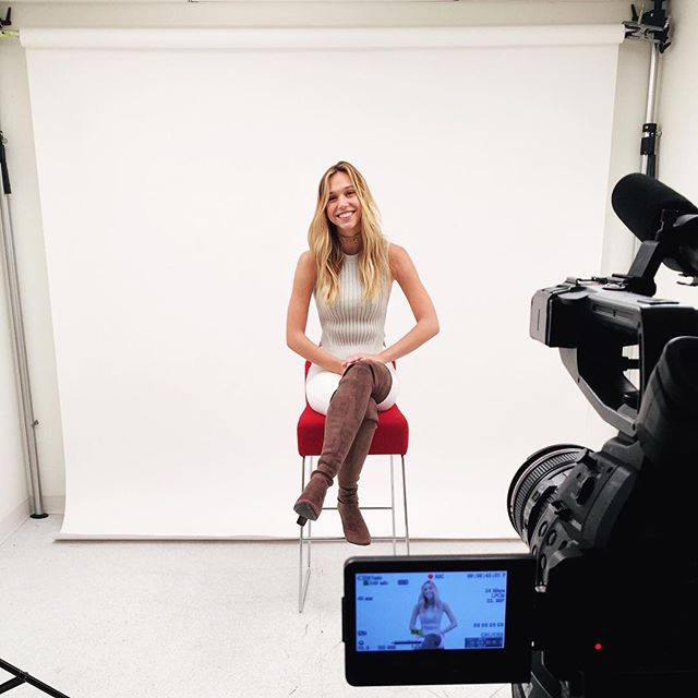 is in progress with the gorgeous @alexisren. Check out our Facebook page for her live chat #siswimcastingcall #siswim
