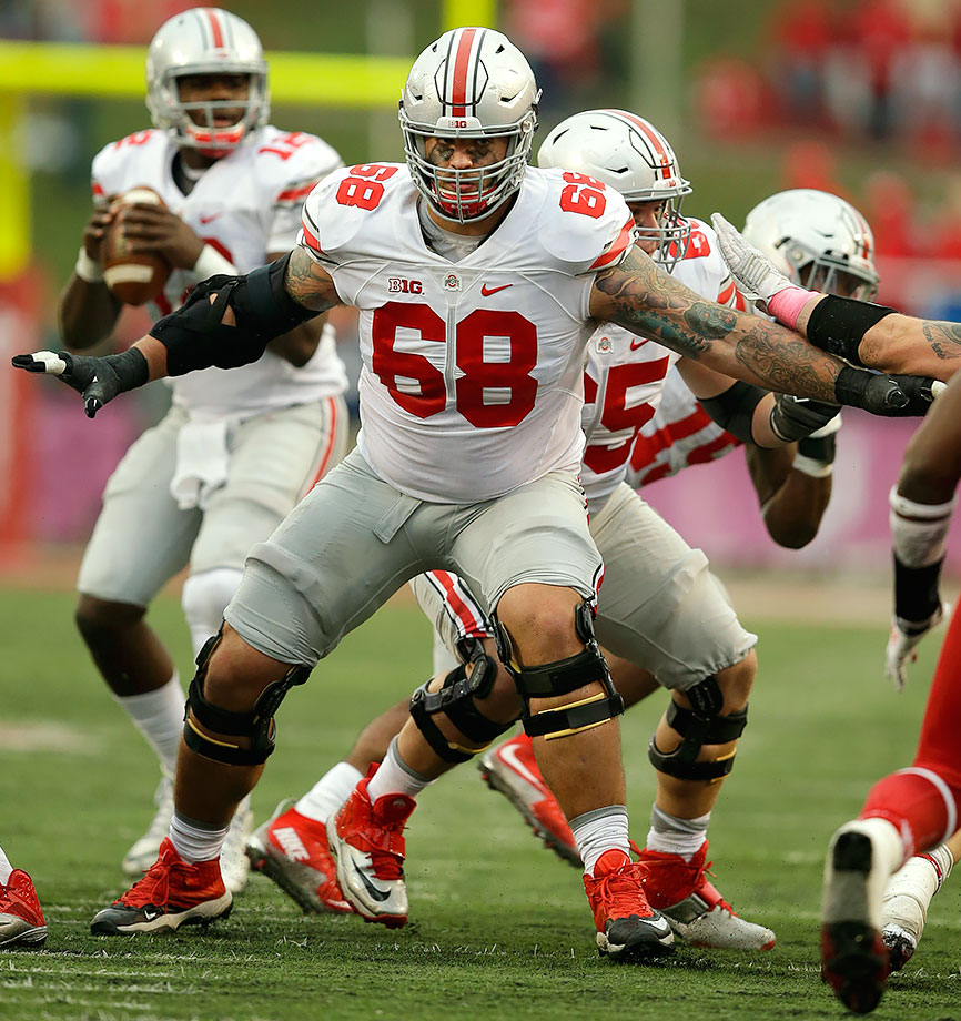 Back-to-back Buckeyes. The race to be the third tackle off the board could come down to Decker and fellow Big Ten standout Jack Conklin, who appears just a few picks later here. Decker needs a big Senior Bowl week, but if he gets it his athleticism helps set him apart. He could be a long-time NFL left tackle, and the Eagles need to start planning for life after Jason Peters.