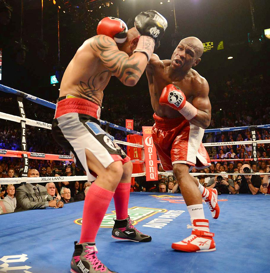 "Miguel Cotto lasted all 12 rounds and gave Floyd Mayweather a really good fight. In the end, though, Mayweather won a unanimous decision and was given the WBA and WBC. super welterweight belts. Handed the third loss of his career, Cotto could at least take solace from the fact that Mayweather said Cotto was the ""toughest guy I ever fought."""