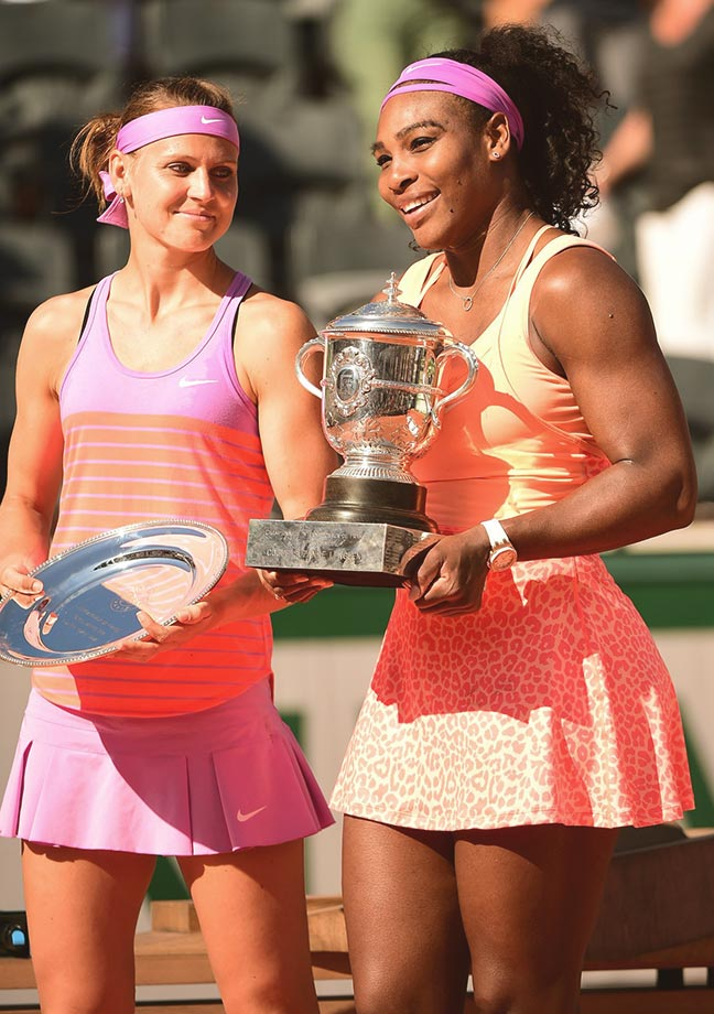 Battling illness throughout the fortnight, Serena dropped the first set in                     four of her six matches ahead of the final. The No. 1 seed defeated                     Victoria Azarenka, Sloane Stephens, Sara Errani and Timea Bacsinszky                     before meeting Lucie Safarova in the finals. In the title match, Serena                     rallied from 0-2 down the in third set to win, keeping the hopes of both a                     Serena Slam and calendar Grand Slam alive.