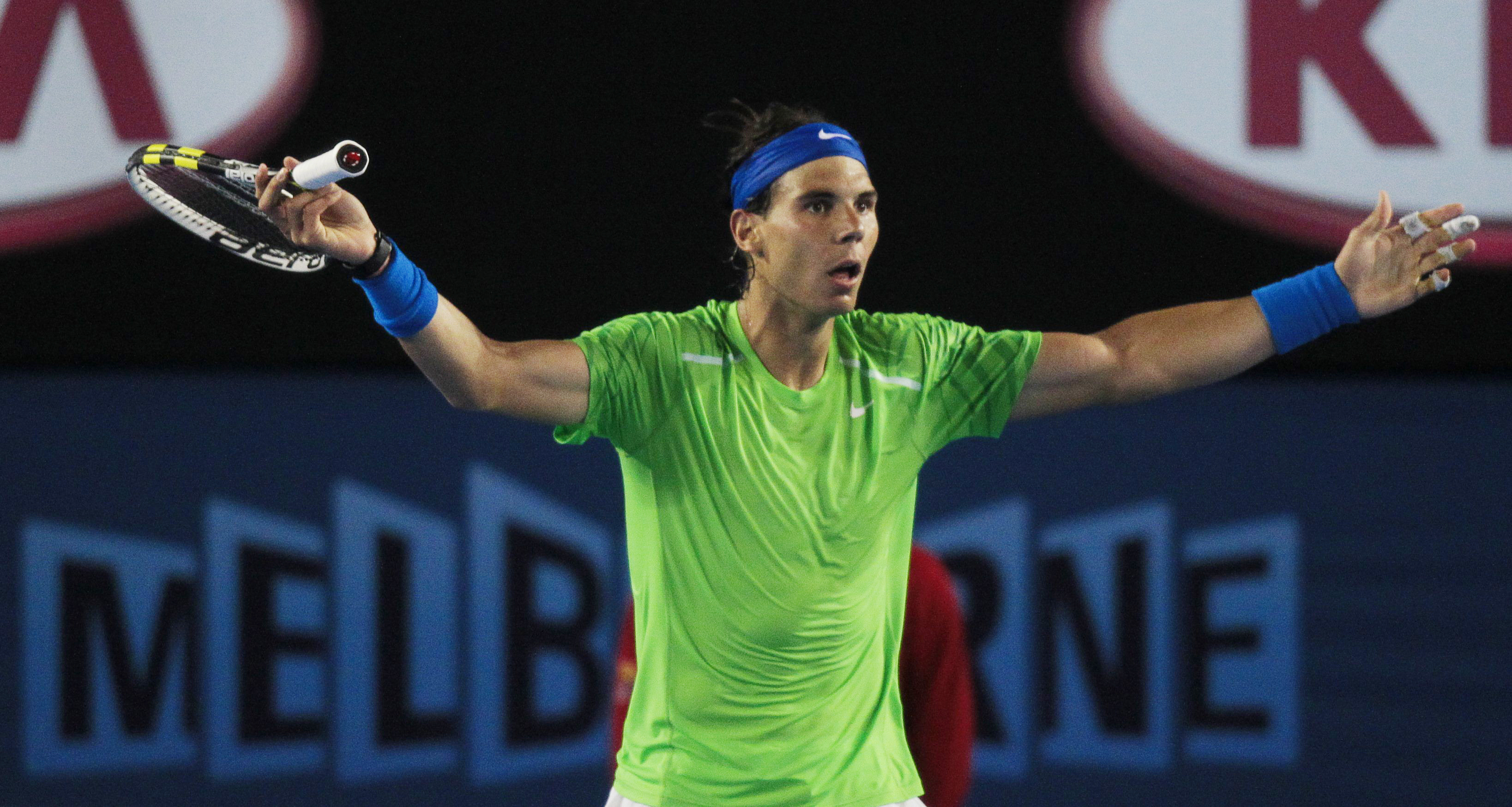 Somewhere along the line Nadal's shirts became much clingier.