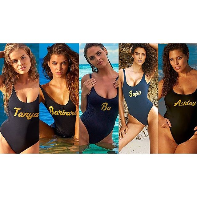 The @si_swimsuit rookies are everything. Click the link in our bio to view their 2016 photo shoots! Also, how amazing are these custom suits by @bruna_malucelli #siswim
