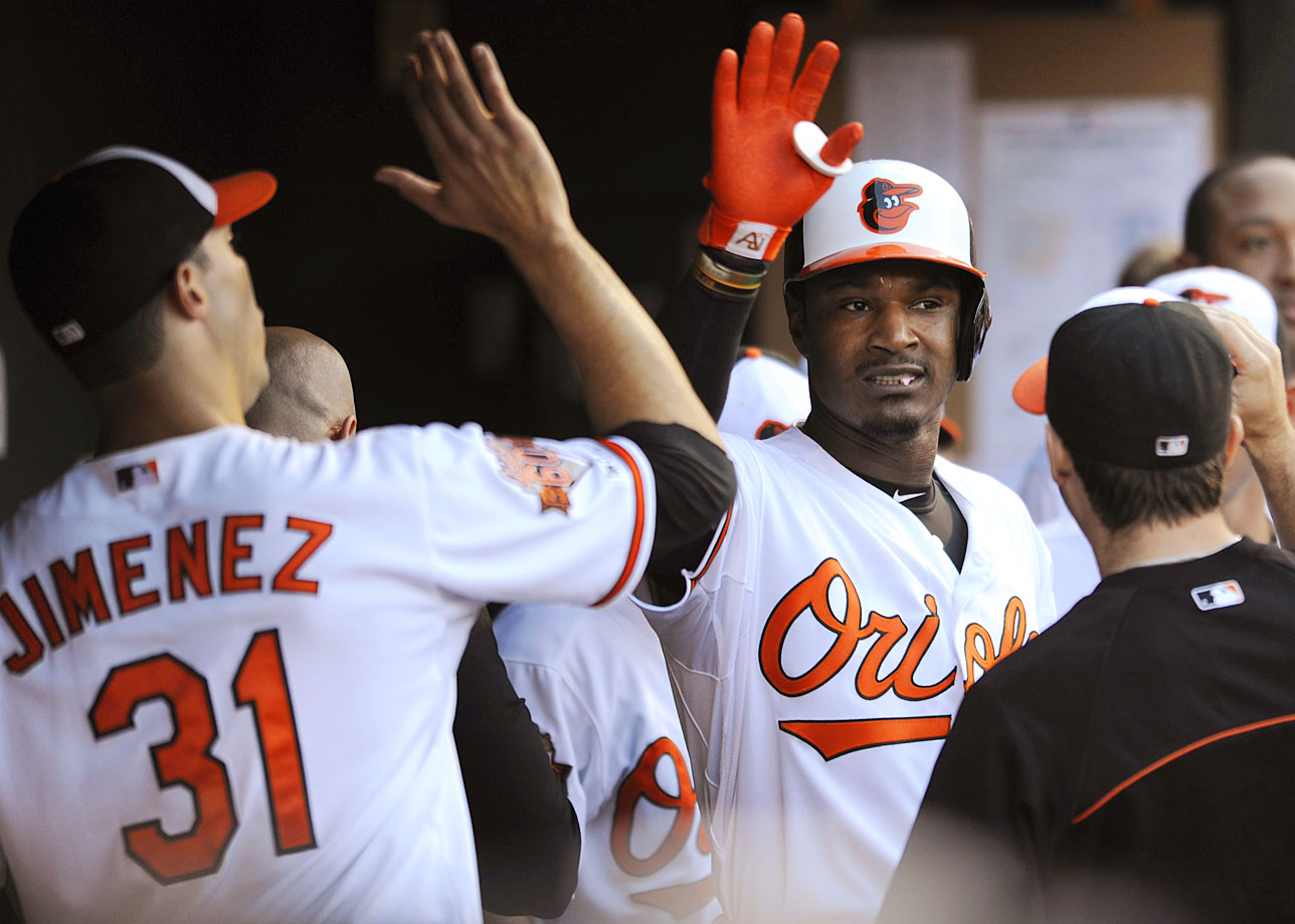 Highest salaries: Adam Jones ($13,333,333), Ubaldo Jimenez ($12,250,000), Chris Davis ($12,000,000)