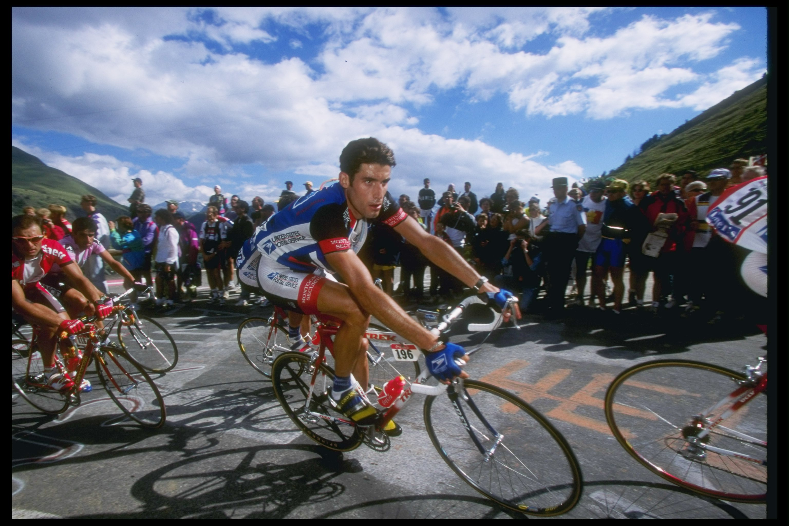American George Hincapie performs during the 13 stage of the Tour de France in July 1997.