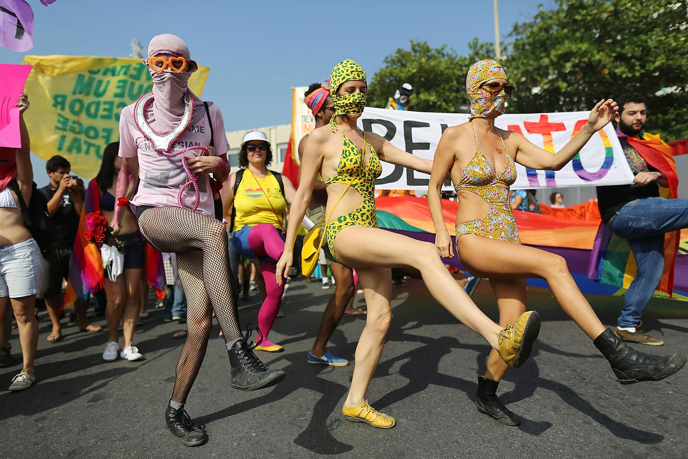 Even Gay rights supporters are getting their kicks at the World Cup in Rio de Janeiro.