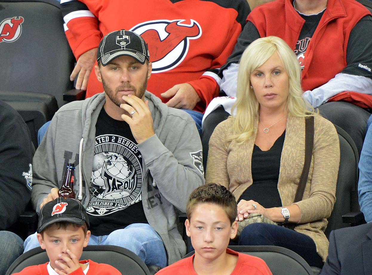 Kevin Harvick attends the Los Angeles Kings-New Jersey Devils game during the 2012 Stanley Cup final.