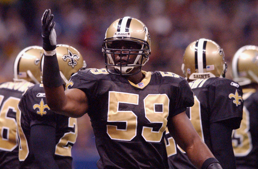 Mitchell during a game against the Washington Redskins at the Superdome in 2001.