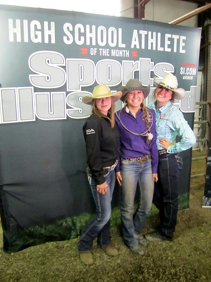 Athletes competing in the rodeo took a break from the action to pose for their own SI cover.