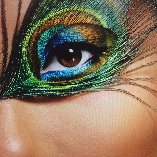 #my #archive #colorful #fantasy #fun #eyelashes #mup #made #by #me #mua #joannegair #peacock #feathers #beauty #perfect #skin #advertising #campaign #using @makeupforeverofficial