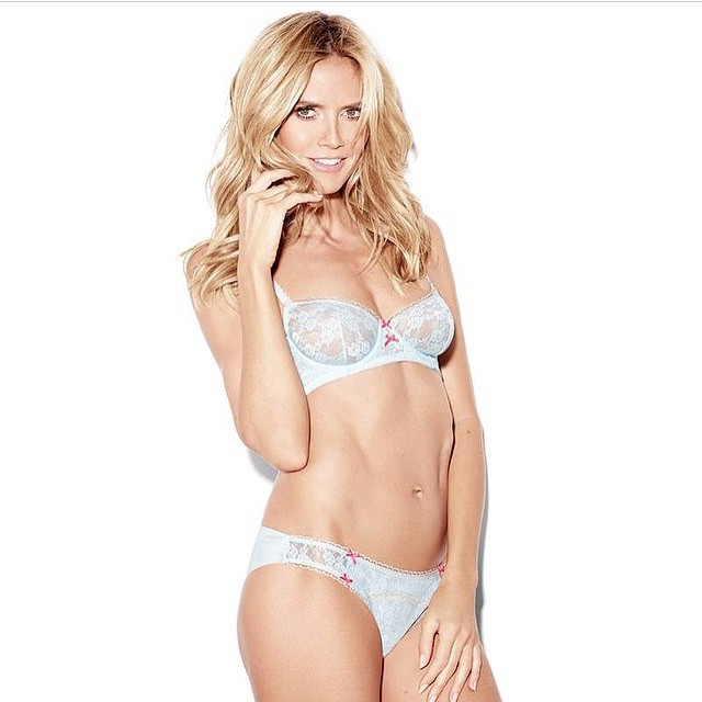 One of my favorite @heidiklumintimates sets! Can't wait to see you at @bloomingdales NYC today from 12-2pm! #heidiklumintimates