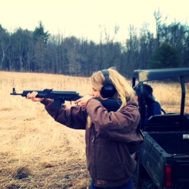 She handles guns