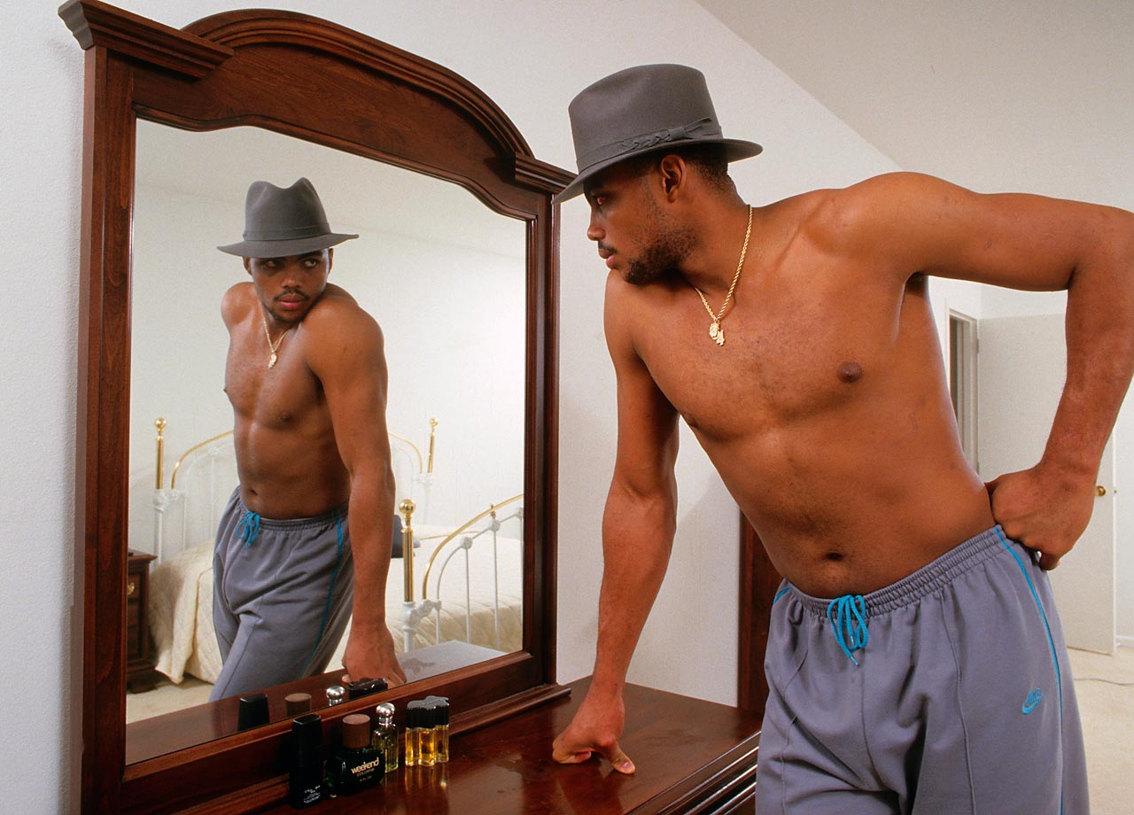 "If being dreamy had been a prerequisite for earning a spot on the Dream Team, Charles Barkley would've had it covered. Posing before a mirror in his Philadelphia home, the then-23-year-old hardly resembled the ""Round Mound of Rebound"" referenced in his nickname."