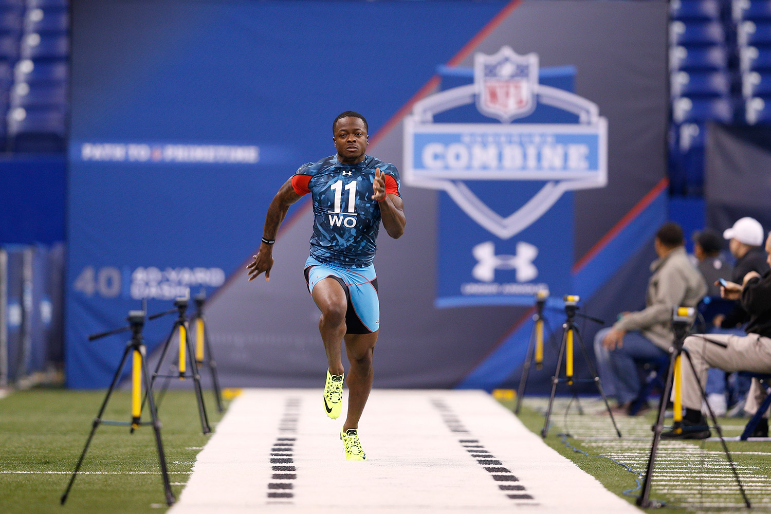 Drafted by the Buffalo Bills with the 78th overall pick in the 2013 NFL Draft, Marquise Goodwin is much more than just a speedy wide receiver and return man. Goodwin also represented the US in the 2012 Olympic Games in the long jump competition, placing 10th in the finals.