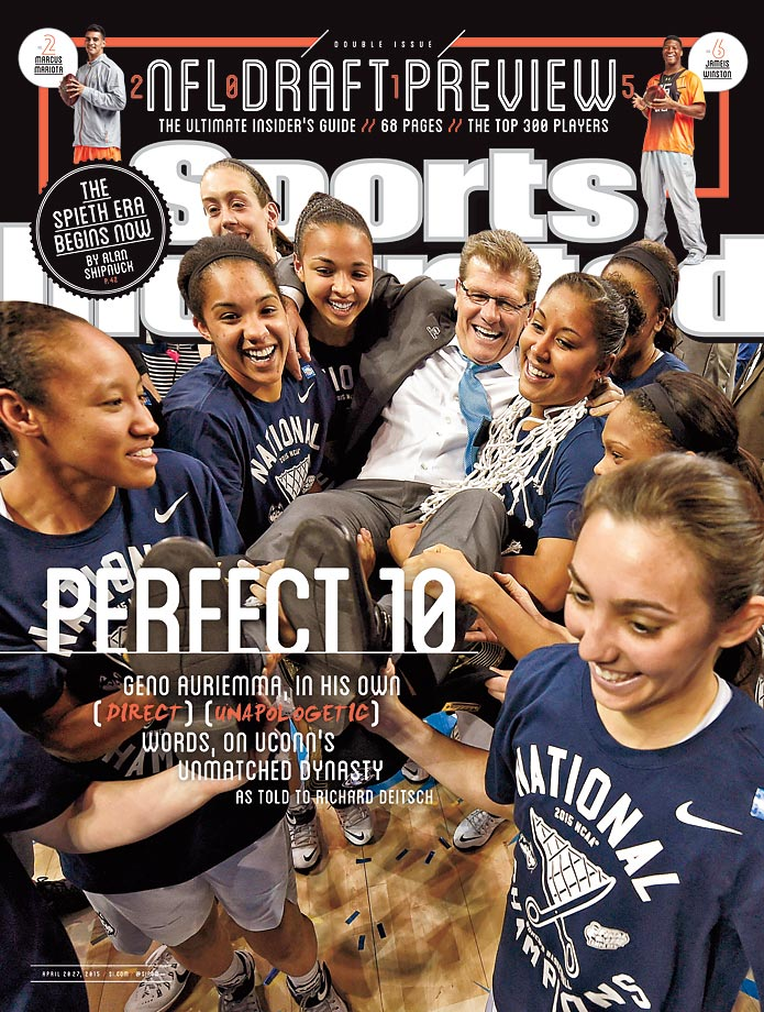 April 20-27, 2015 | Connecticut again rolled through their competition this season, capped off with a 10th National Championship under coach Geno Auriemma.