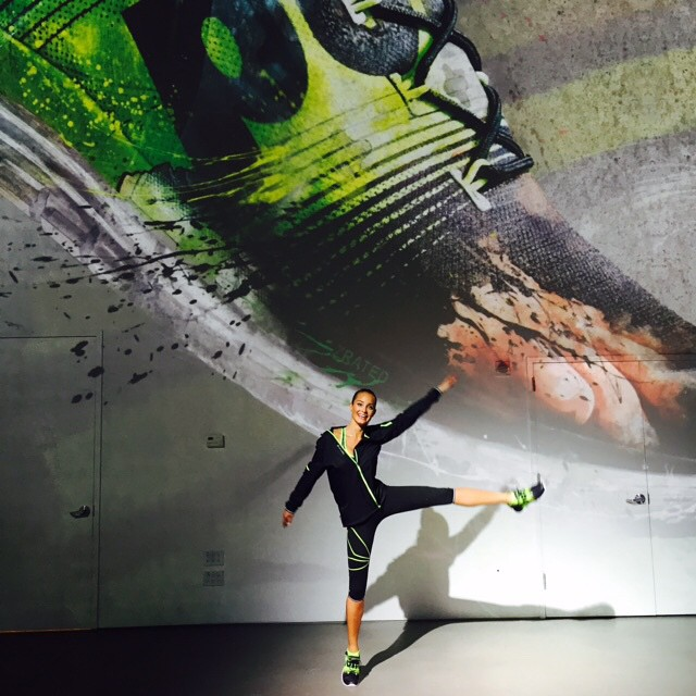 Fun day at the global launch of the new @Reebok #ZPump running shoe today in NYC! #getpumped