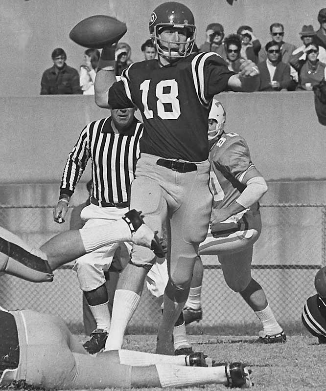 The legend of the elder Manning still rings across the South. He finished fourth in the Heisman in 1969 and was the Most Valuable Player in the Southeastern Conference. His 540 total yards against Alabama in a loss was an SEC record, later tied by LSU's Rohan Davey. — Runner-up: Roman Gabriel, QB, N.C. State (1959-61)
