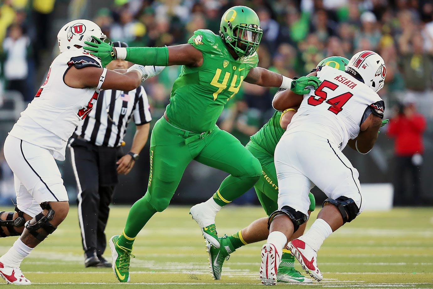 "It sounds a little odd to say that Buckner, who recorded 9.5 sacks and was just named Pac-12 Defensive Player of the Year, still needs work as a pass rusher. That's the area for growth, though. The 6'7"", 290-pounder is a matchup nightmare against the run, setting the edge with his length and strength, then staying active through the whistle."