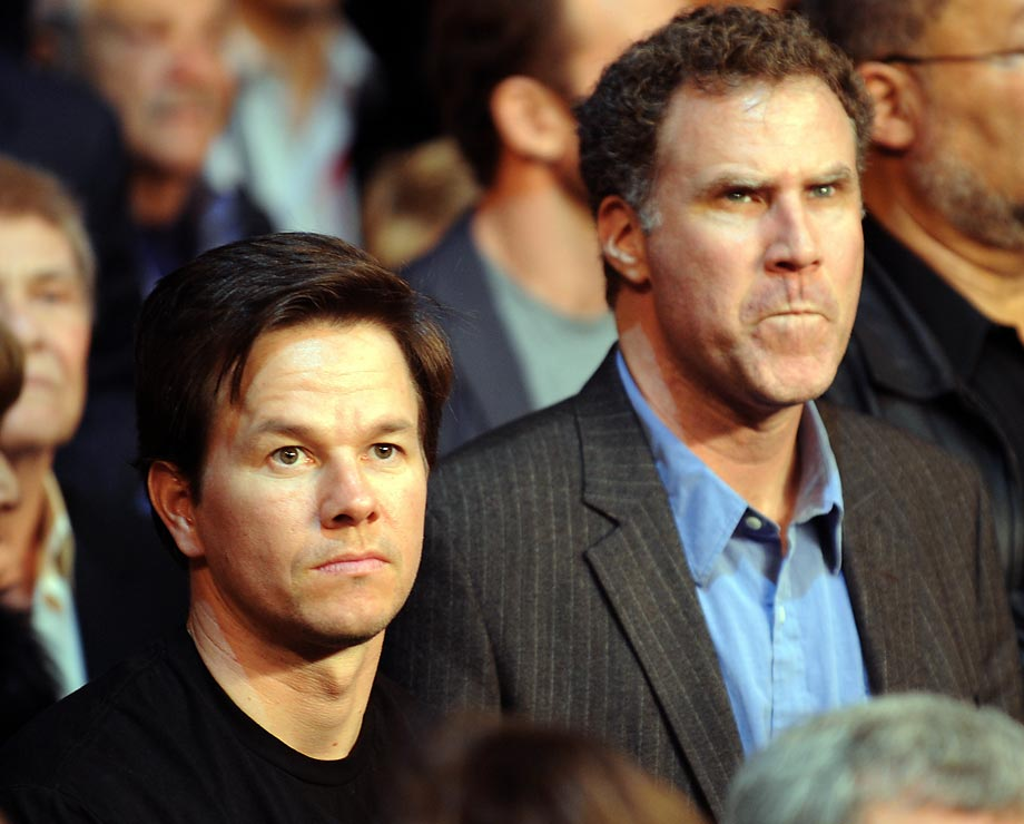 Mark Wahlberg and Will Ferrell attend Manny Pacquiao vs Miguel Cotto.