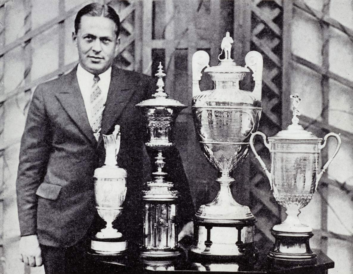 Imagine if in 2017 Rory McIlroy wins the Masters, U.S. Open, British Open and PGA to complete golf's Grand Slam and then retires at 28. Unthinkable? That's exactly what Jones did in 1930 after winning what was then golf's Grand Slam: the U.S. and British Opens, and the U.S. and British Amateurs. Jones, who played in an era when there were nearly as many accomplished amateur golfers as there were pros, usually held his own against any field, winning four U.S. Opens and three British Opens. He won 13 of the 31 majors he entered and finished in the top 10 27 times. He won the first Sullivan Award as the nation's outstanding amateur athlete.