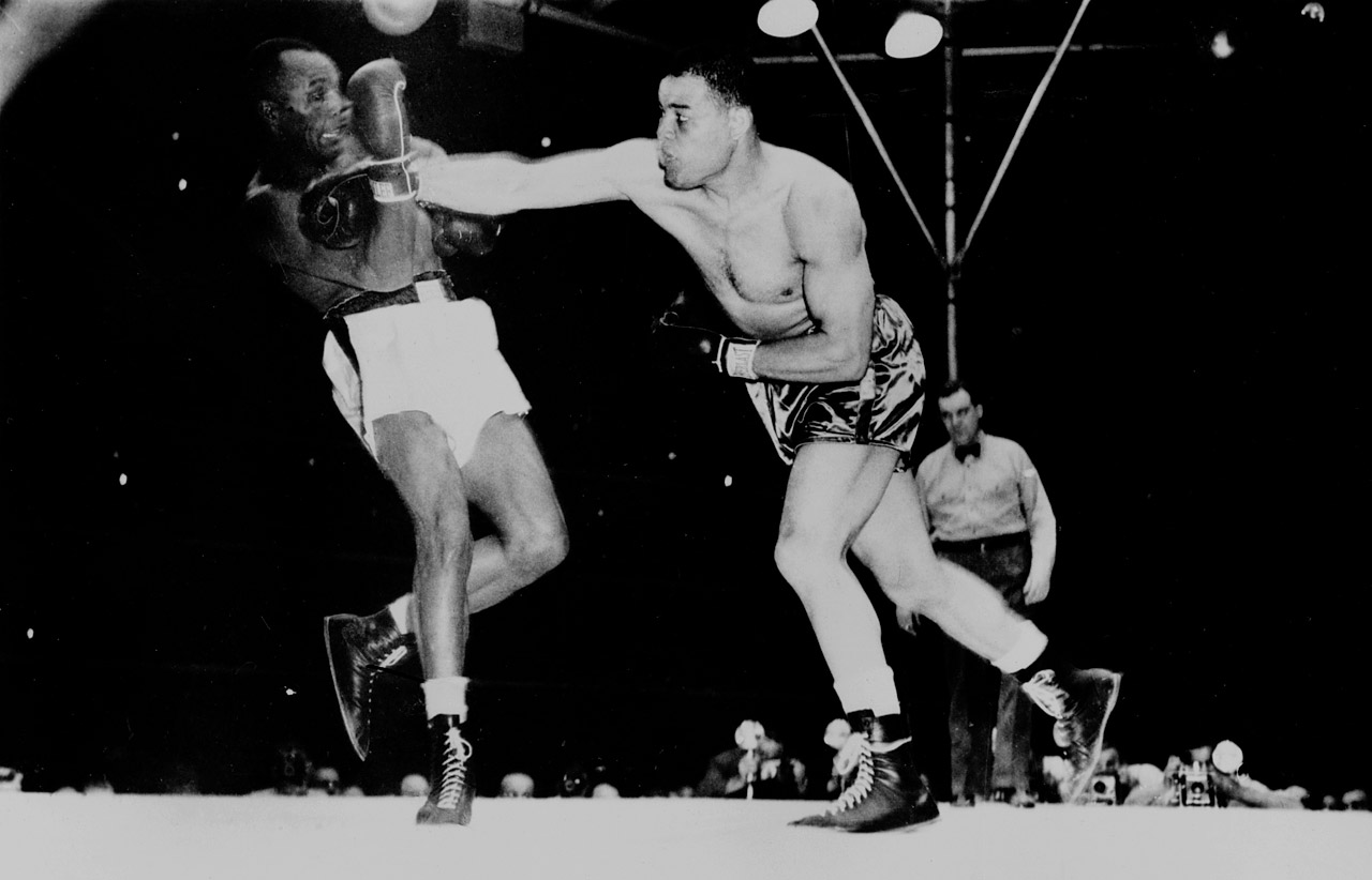 Louis made his 24th title defense against 33-year-old Jersey Joe Walcott, a 10-to-1 underdog. It was clear this was not the Louis of old. Walcott knocked down the champion down twice and seemingly dominated the bout, though Louis got the win by split decision. Chagrined by the outcome, Louis gave Walcott a rematch six months later. Weighing 213½, the heaviest of his career to that point, Louis weathered another knockdown but mustered just enough of his old firepower to knock Walcott out in the eleventh. It would be his record 25th and final successful title defense. He would retire three months later.