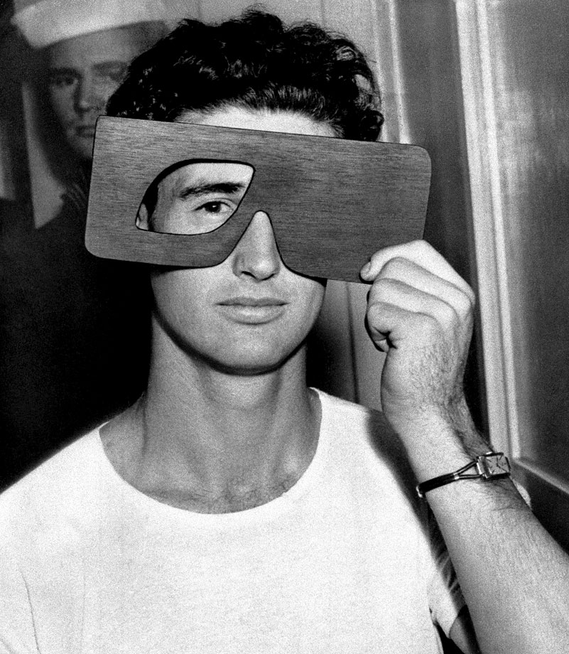 Ted Williams, who possessed near-perfect vision, takes an eye exam in 1950.