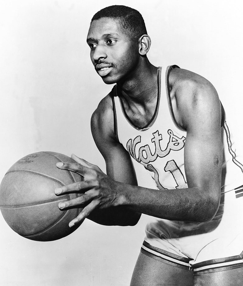 Earl Lloyd played nine seasons in the NBA, six with the Syracuse Nationals, missing the 1951-52 season to serve in the U.S. Army.