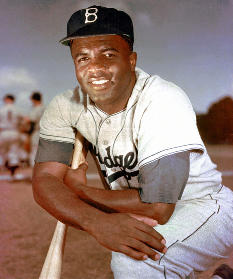 Jackie Robinson poses for a portrait in 1952. Robinson had a career-high .440 OBP that season.