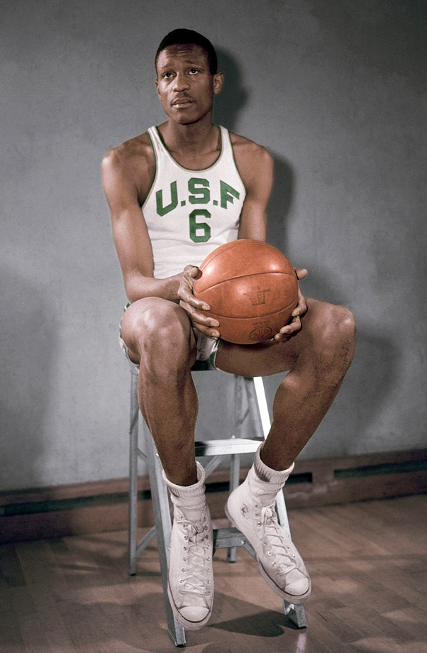 The University of San Francisco basketball player poses for a photo.