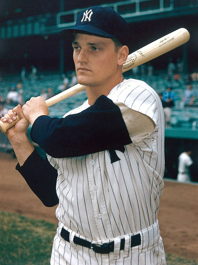 Roger Maris at Yankee Stadium in June of 1960.