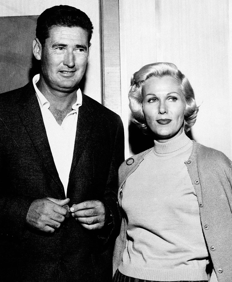 Ted Williams and wife Lee Howard in 1961.
