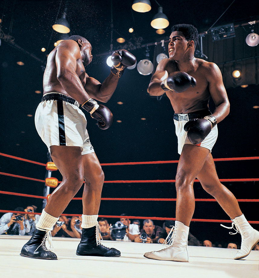 22-year-old challenger Cassius Clay (Muhammad Ali) battered the heavily favored heavyweight champion Sonny Liston in a bout that shook the boxing world. The fight ignited the career of one of sports' most charismatic and controversial figures, whose bouts often became social and political events rather than simply sports contests. (Posted Feb. 25 -- 50th anniversary of Ali vs. Liston I)