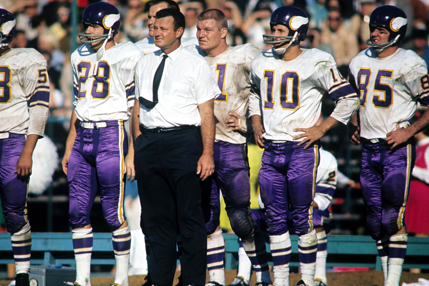 with Vikings head coach Norm Van Brocklin