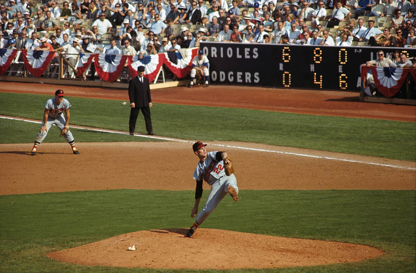October 6, 1966 — World Series, Game 2 (Baltimore Orioles vs. Los Angeles Dodgers)