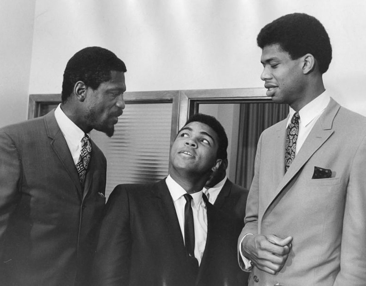 with Bill Russell and Muhammad Ali