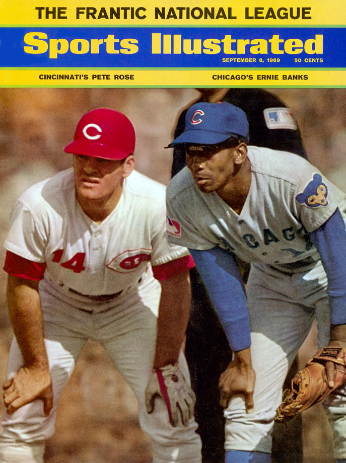 with Ernie Banks