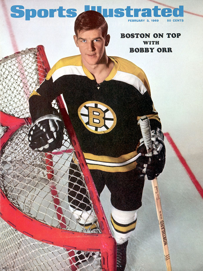 Bobby Orr won two scoring titles and had six consecutive 100-point seasons (1969-75), including the first by a defenseman.