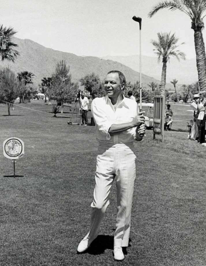 Frank Sinatra attends the Chuck Connors 3rd Annual Charity Invitational Golf Tournament in Palm Springs, Calif., on April 19, 1969.