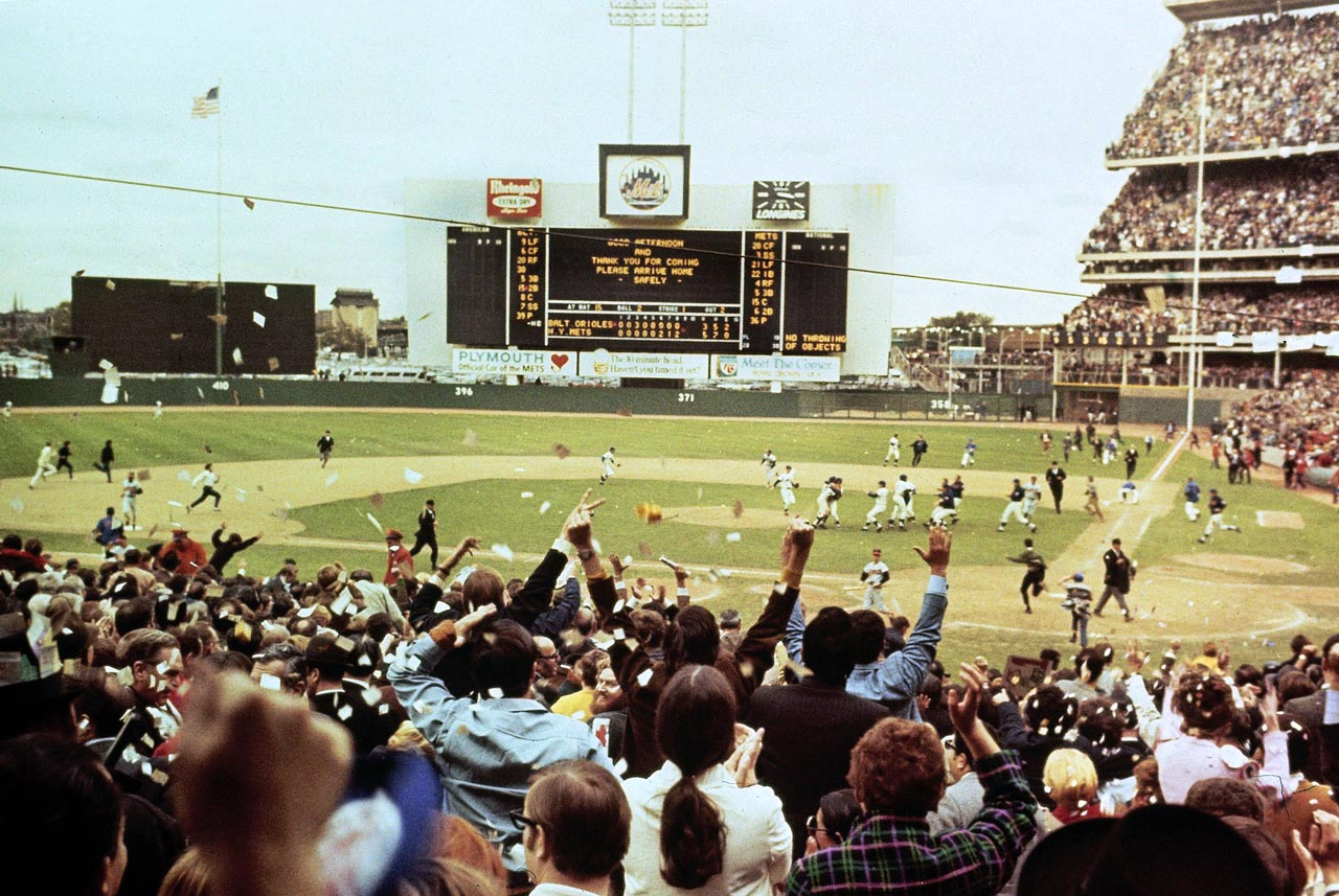The Orioles led Game 5 of the '69 World Series 3-0 when Mets manager Gil Hodges proved that a pitch thrown by Baltimore's Dave McNally had hit Cleon Jones in the foot by showing the umpire that there was shoe polish on the ball. Donn Clendenon followed with a crucial two-run home run in the Mets' 5-3 victory that clinched the Series.