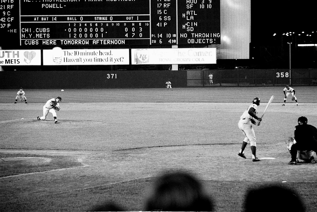Tom Terrific took a perfect game into the bottom of the ninth inning only to lose it on a one-out single to left-center by Cubs rookie Jimmy Qualls. Seaver finished with a one-hitter and 11 strikeouts.