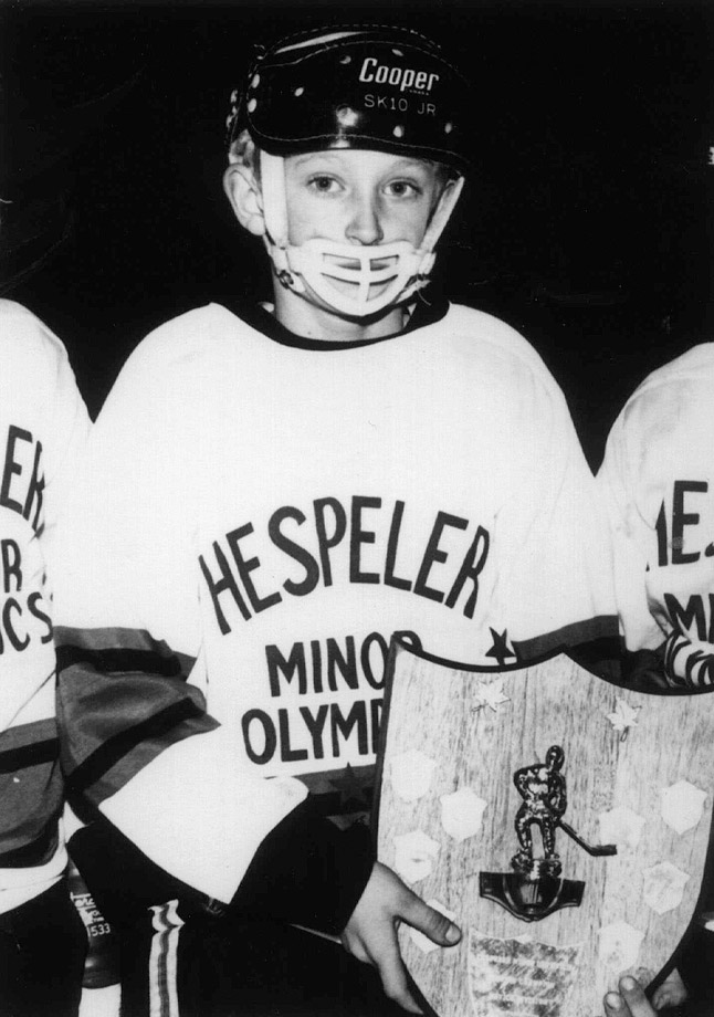 The future Great One laced up his first pair of skates and spent countless hours on a rink built by his father in the backyard of their home in Brantford, Ontario. By the age of five, Wayne was competing against kids who were 10 or 11 years old.