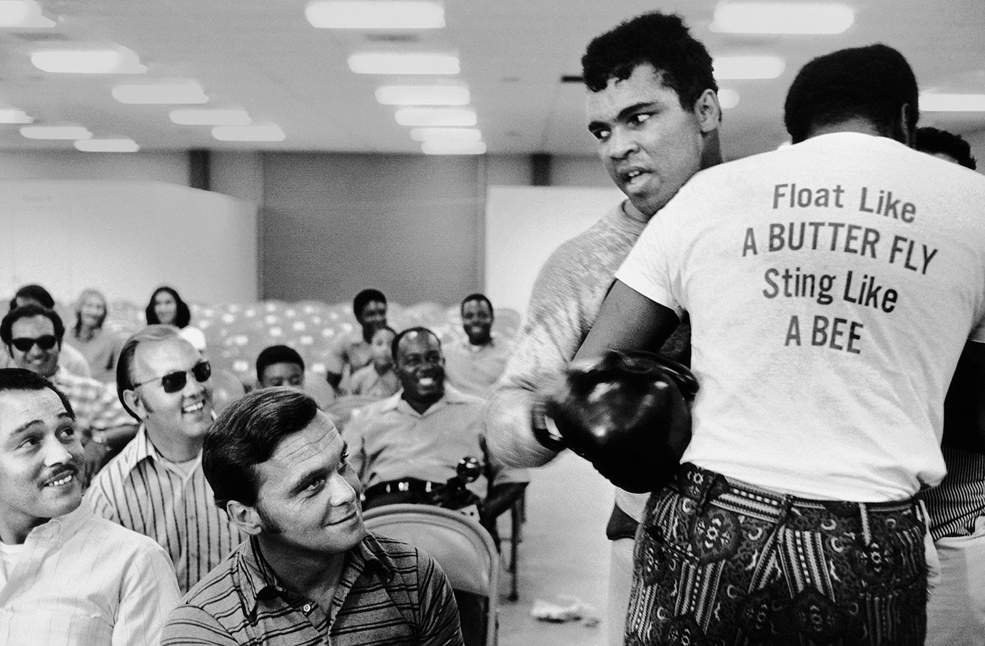 For those sportswriters lucky enough to cover Ali on a regular basis, each day brought surprises and, more often than not, plenty of laughs. of Trainer Drew Bundini Brown helps Ali train for his fight against Ellis. Ali won the bout by technical knockout in the 12th round to claim the vacant NABF heavyweight title.