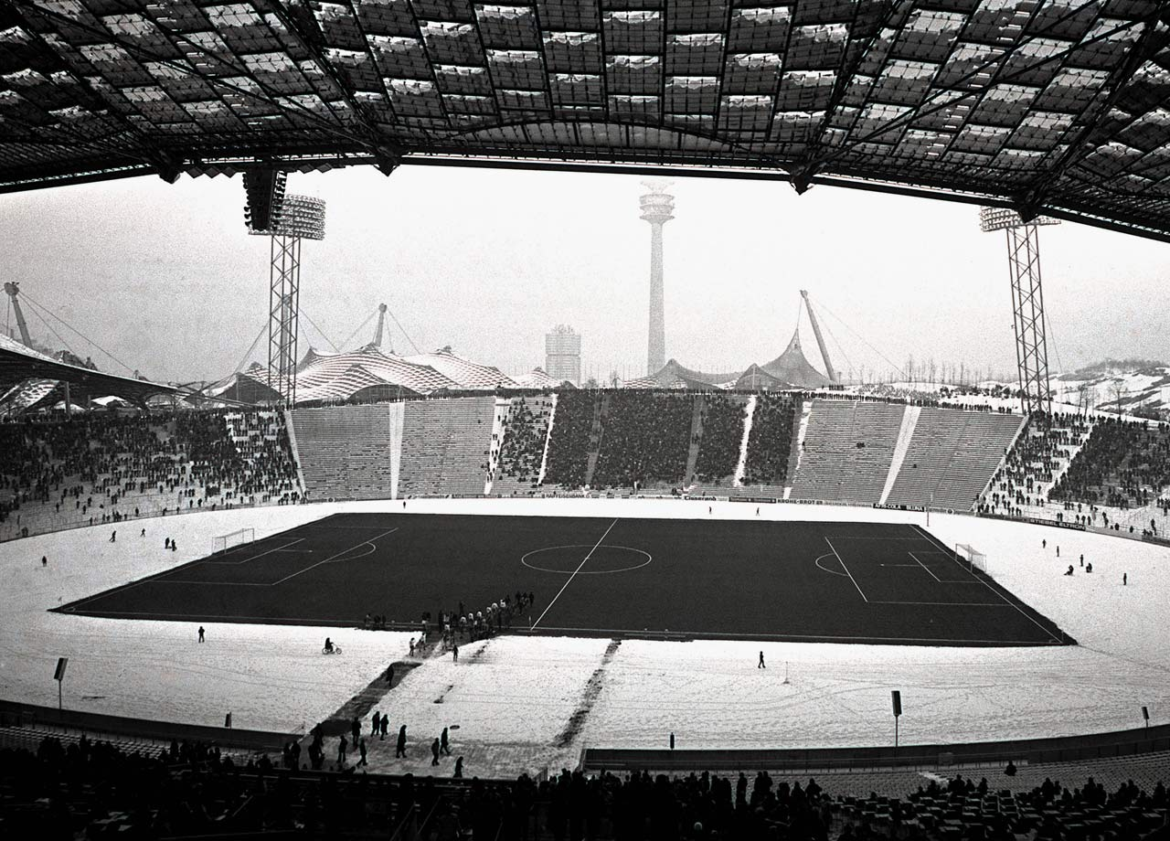 The club moves from the Grunwalder Stadion to the Olympiastadion, which had been built for the 1972 Summer Olympics. It would be Bayern's home for 35 years.