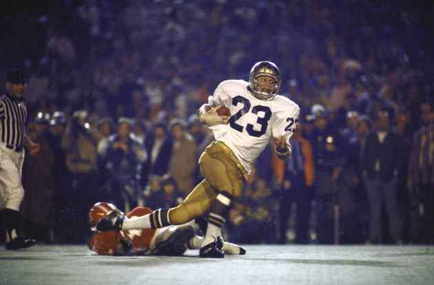 Notre Dame Art Best (23) rushing vs Alabama at the Sugar Bowl.