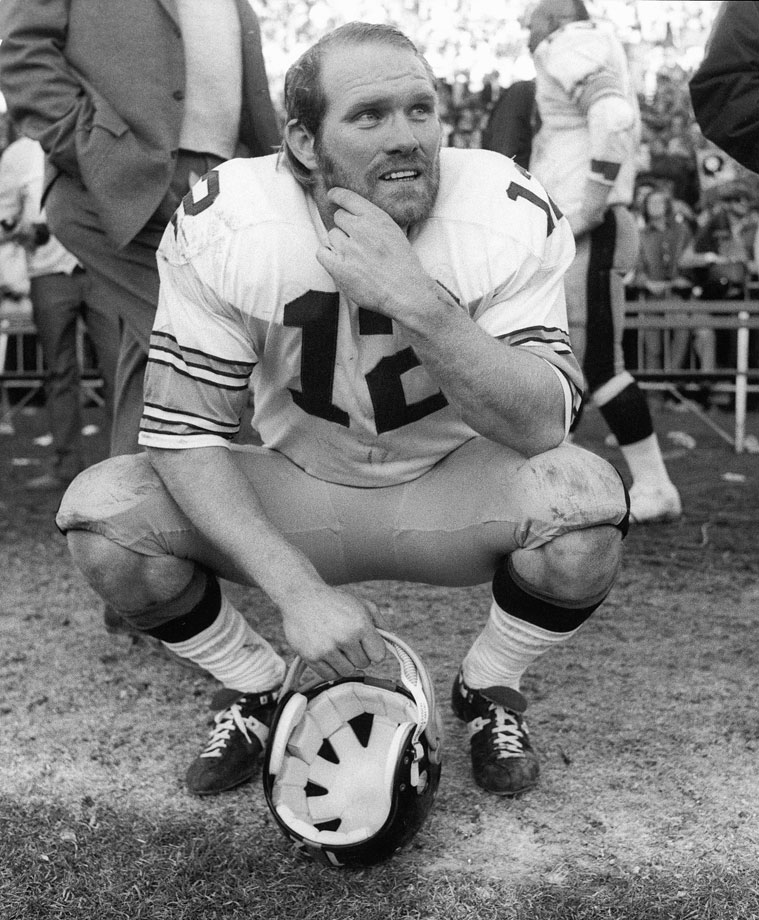 Terry Bradshaw passed for 27,989 yards and 212 touchdowns in his career, with a single-season high of 3,724 passing yards in 1979.