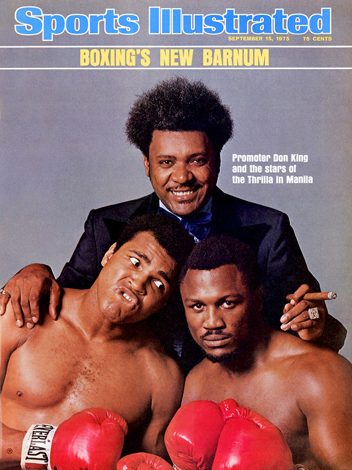 The historic rubber match between Muhammad Ali and Joe Frazier took place in Quezon City on October 1, 1975. President Ferdinand Marcos had campaigned for the fight with the hopes of diverting attention from the ongoing social turmoil in the Philippines. After briefly considering Cairo's Nasser Stadium as a venue, promoter Don King agreed to hold the fight at the 16,500-seat Araneta Coliseum. This cover shot for the September 15 issue of SI was taken on August 25.