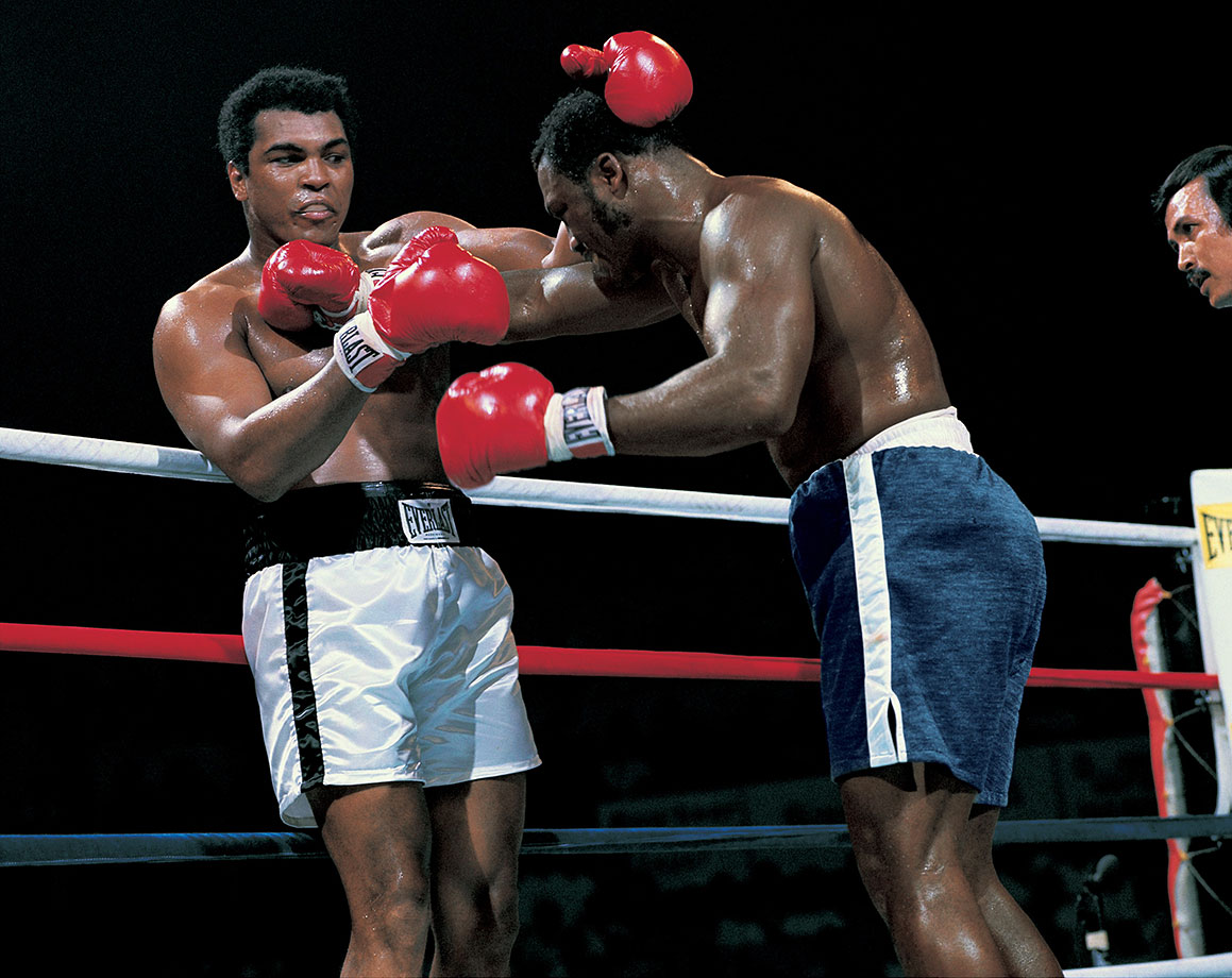 "As Frazier took control of the fight, Ali reached deep into his bag of tricks. At one point, he even tried the rope-a-dope gambit that worked so effectively against George Foreman. But Frazier countered by pounding Ali's arms so deflecting his blows hurt nearly as much as absorbing them. By the end of the 10th, the pace of the fight slowed as both men fought serious fatigue. ""Both guys ran out of gas,"" Ali trainer Angelo Dundee later remarked, ""only my guy had an extra tank."""