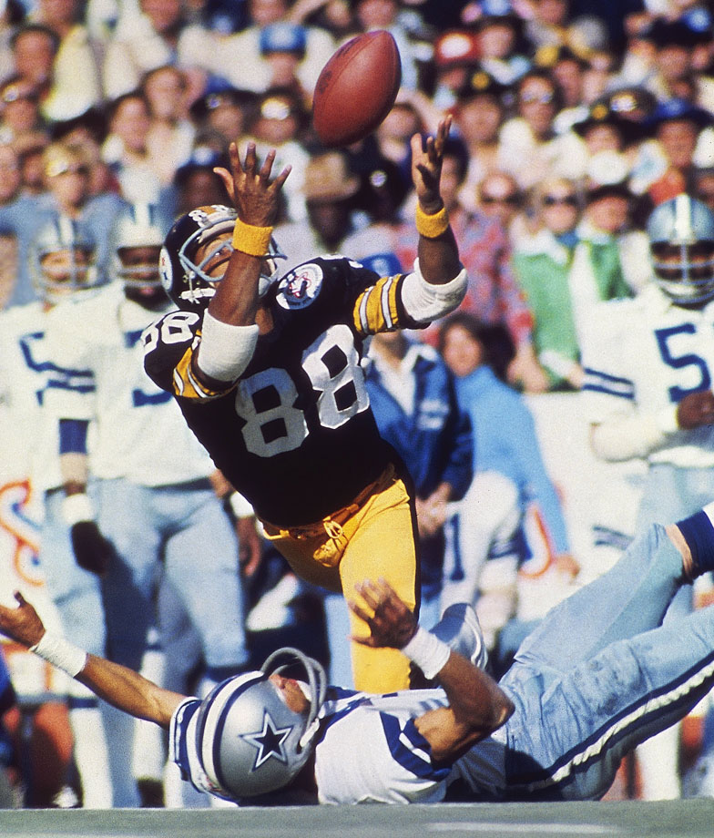 Steelers wideout Lynn Swann laid out the Cowboys in Super Bowl X in Miami, and was the game's MVP.