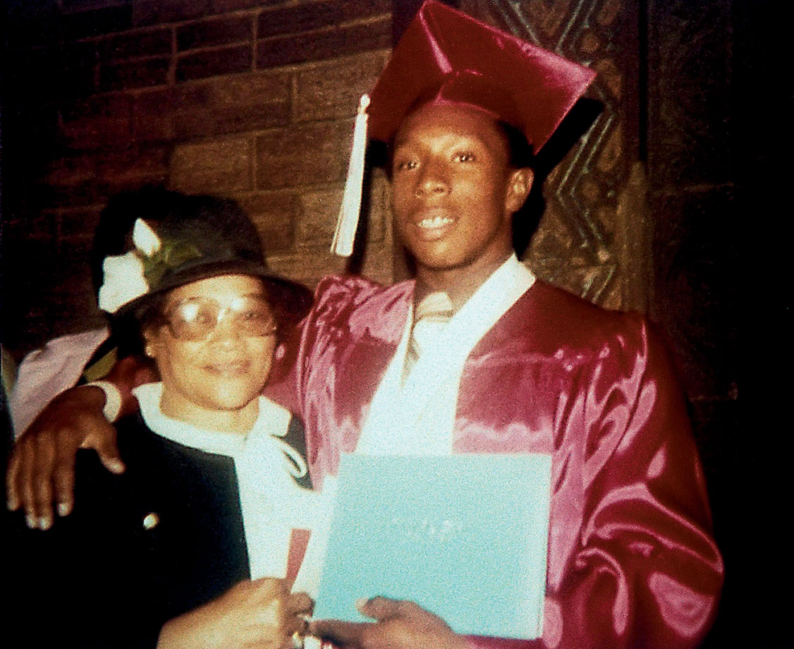 Kirby Puckett poses with his mom, Catherine, at his graduation of Calumet High School in Chicago.