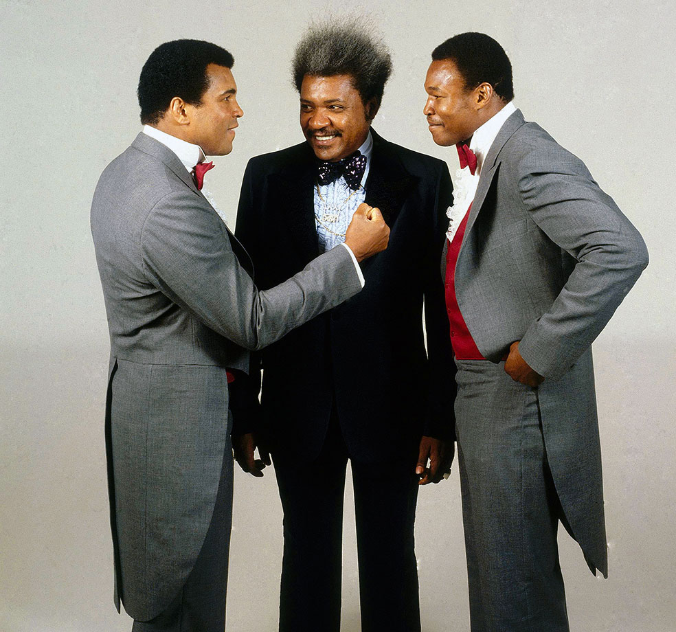 Don King pulled the strings again when Ali faced Larry Holmes before their November 1980 fight. King became a key figure in Ali's career, promoting his biggest fights, the Thrilla in Manila and the Rumble in the Jungle.