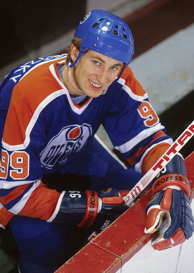 Gretzky had good reason to smile before the playoffs in '81. He would go on to score 21 points (7 goals and 14 assists) in just nine games that postseason, before the Oilers were eliminated by the defending Stanley Cup champion New York Islanders in the second round.